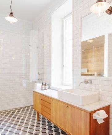 Adoptez le style m tro parisien cuisine salle de bain for Carrelage style metro parisien