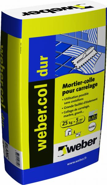 Colles accessoires outillage colle carrelage weber col for Colle carrelage weber