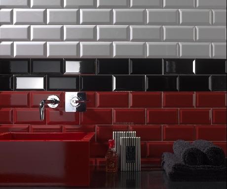 carrelage mural fa ence fa ence moderne faience metro noir import. Black Bedroom Furniture Sets. Home Design Ideas